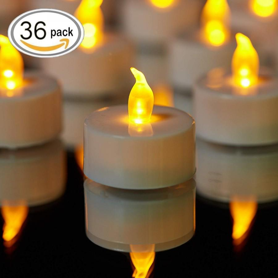 Wedding - 36 Pcs LED Flameless Candles Flickering Tealight Candles Battery Included USA Seller