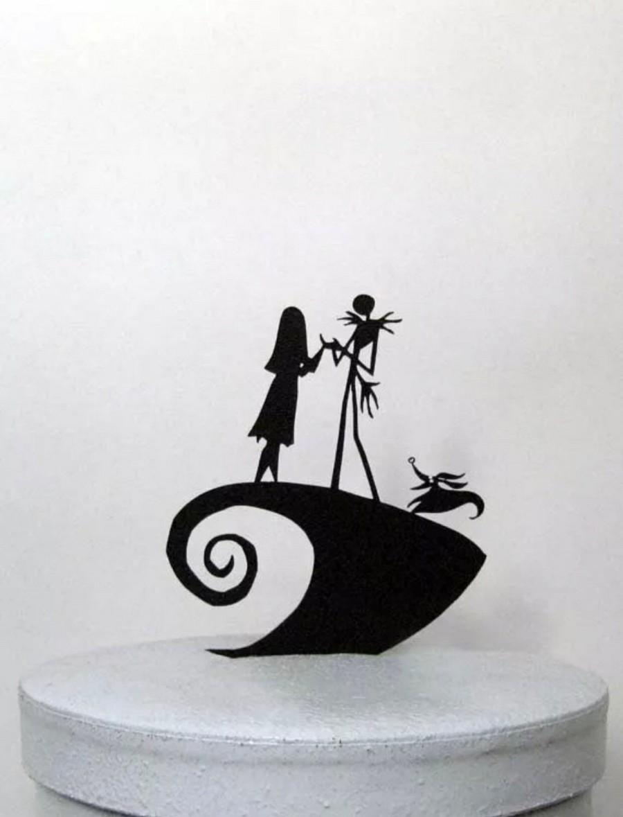 Hochzeit - Jack Skellington Cake topper The Nightmare Before Christmas Cake Topper FREE SHIPPING
