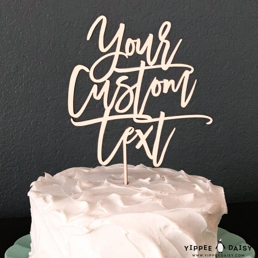 زفاف - Personalized Cake Topper, Custom Text Cake Topper, Bachelorette Cake Topper, Bridal Party Cake Topper, Wood Cake Topper, Rustic Cake Decor