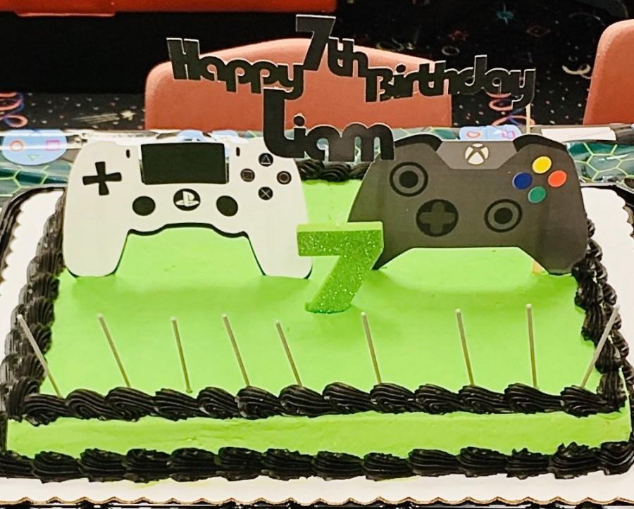 زفاف - Gamer cake topper / PlayStation cake topper/ Xbox cake topper