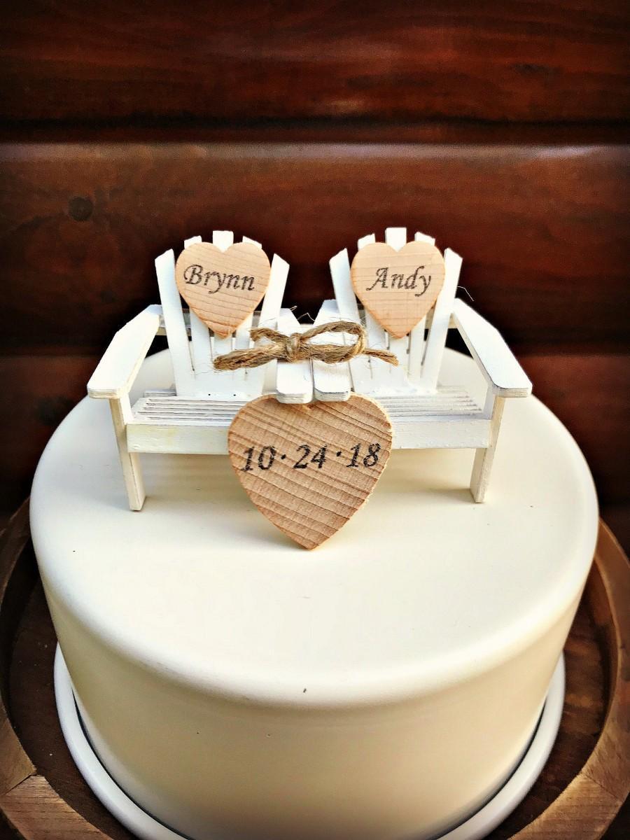 زفاف - Adirondack Beach Chair Wedding Cake Toppers / Mr and Mrs Wedding Cake Topper Beach Chairs / Beach Chairs/Beach Wedding