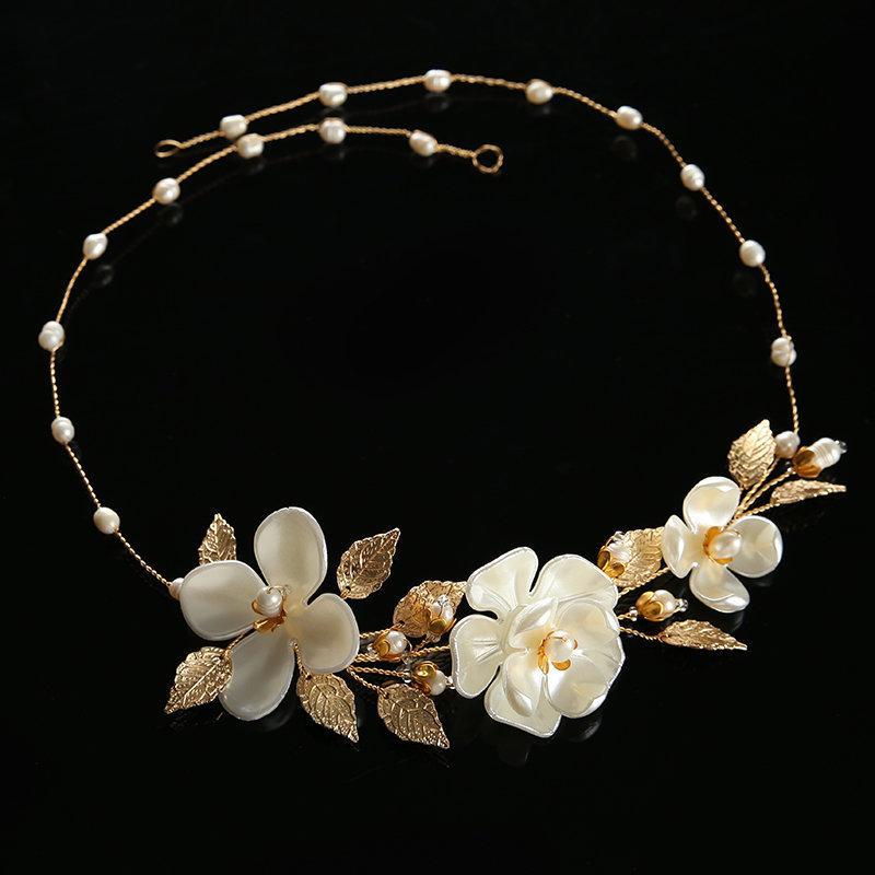 Wedding - Wedding Headband Bridal Hair Jewelry Bridal Headband Wedding Headpiece Hair Accessories Bridal Hair