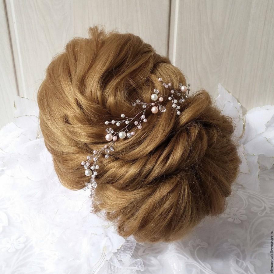 Wedding - Bridal Hair Vine,Wedding Hair Vine,Crystal Hair Peice,Pearl Hair Vine,Bridal Jewelry,Hair Vine Pearl,Hair vine.Wedding hair.rose gold hair