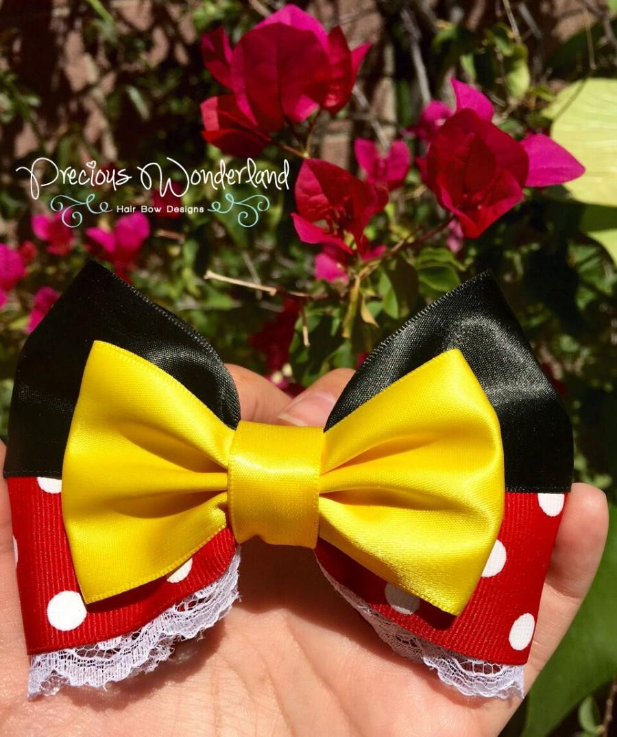 Wedding - Mrs Mouse Inspired Hair Bow