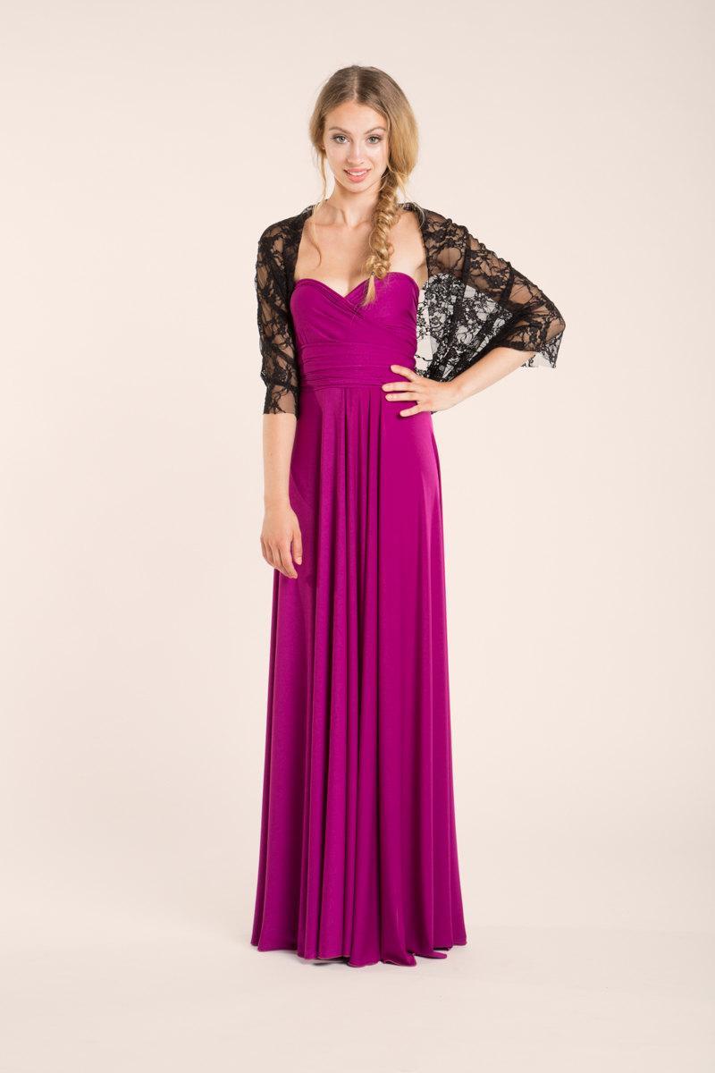 Wedding - Black lace shawl, sheer lace wrap, bridesmaid shawl, bridesmaid accessories, elegant lace cover up, lace infinity shawl, evening lace shawl