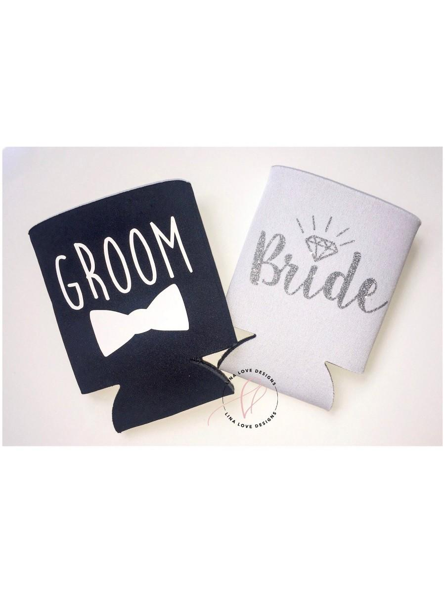 Mariage - Bride and Groom Can Cooler