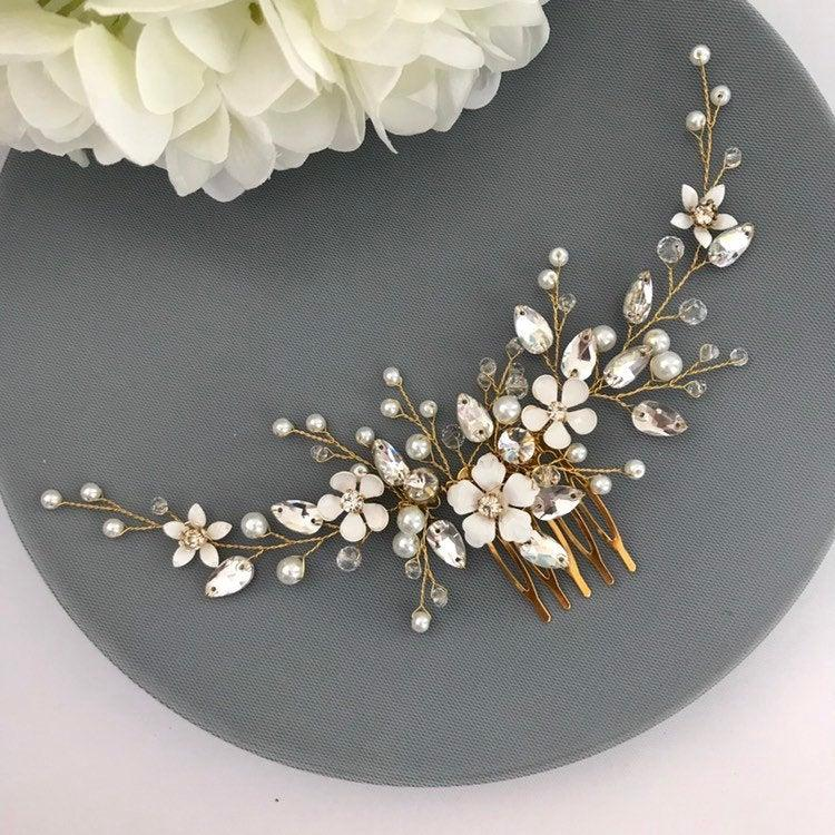 Wedding - Bridal Hair Piece Wedding hair piece Bridal Headpiece Wedding headpiece Bridal hair pieces Bridal hair vine  Wedding hair pieces Hair vine