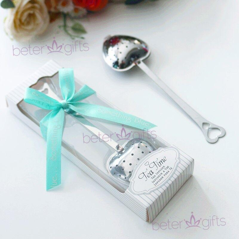 Wedding - Beter Gifts®Tea Infuser Wedding Favor With Something Blue Ribbon #beterwedding