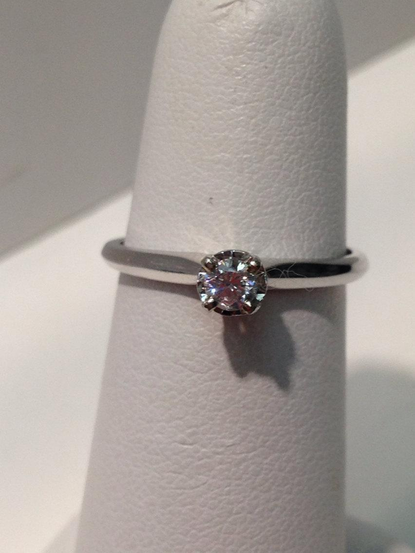 Wedding - Handmade Antique Diamond Engagement Ring, 14K Gold, Engagement Ring, Engagement, Diamond Ring, Solitaire Diamond Jewelry, Solitaire Ring
