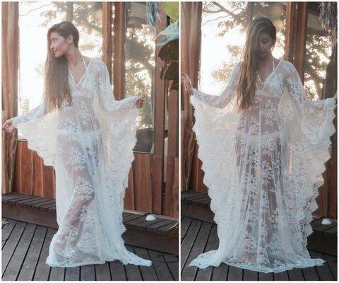 Wedding - Lace kaftan, Lace Cover Up, Lace Dress, Beach Lace Dress, Wedding Lingerie, Tunic, Kaftan Dress, beach caftan, Jalabiya, Beach cover ups