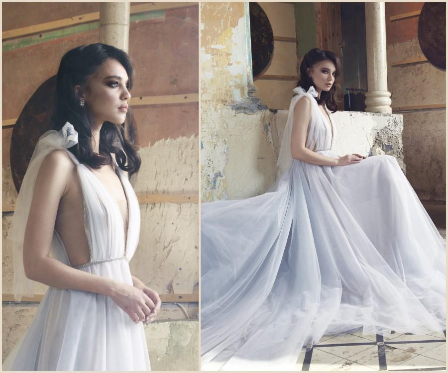Wedding - Handmade Tulle Open Back Wedding Dress