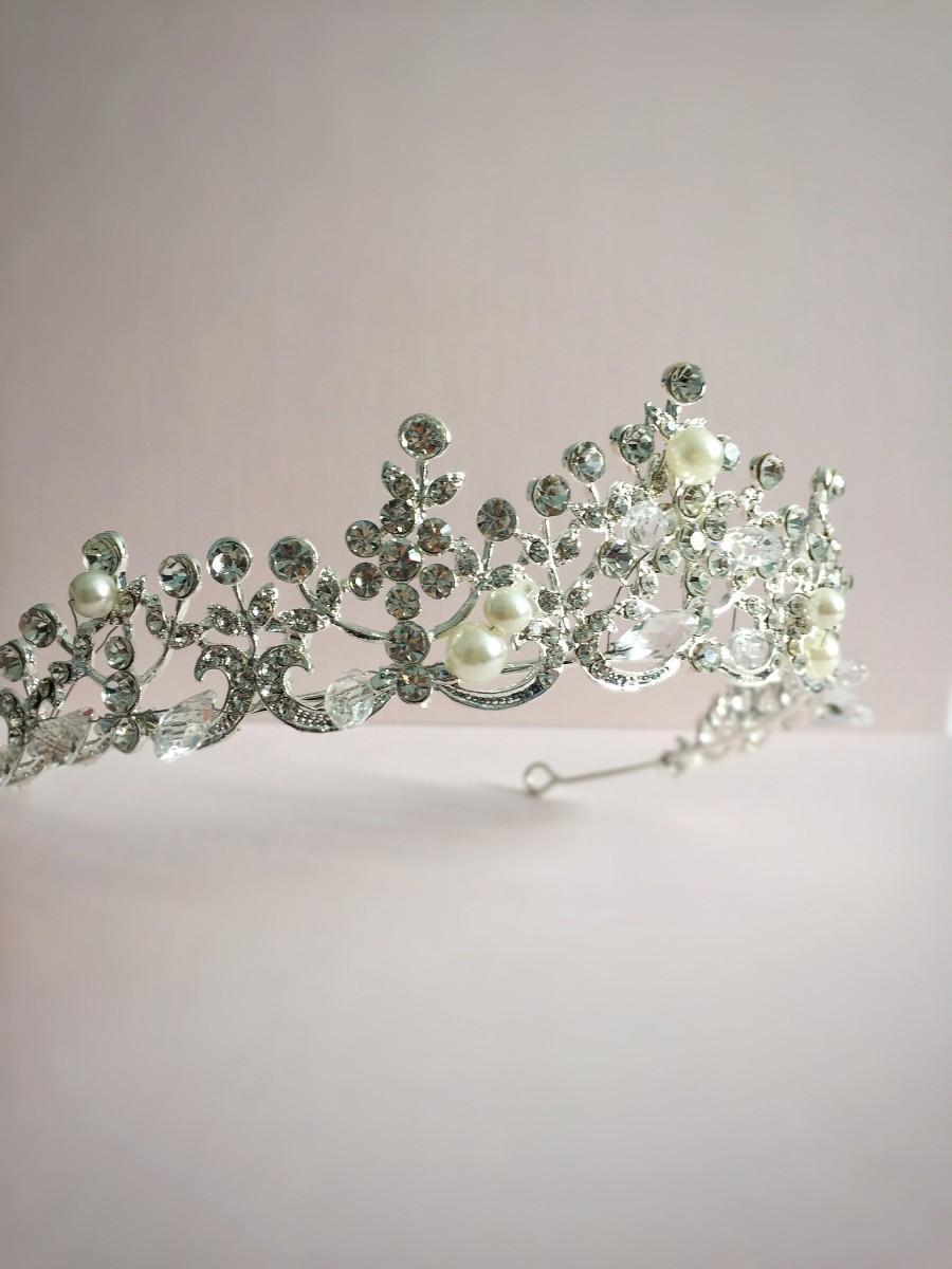Hochzeit - Wedding Crown Silver Crystal Crown Hair Tiaras Bridal Headpiece Women Rhinestone Crown Hair Ornaments Wedding Hair Jewelry Accessories