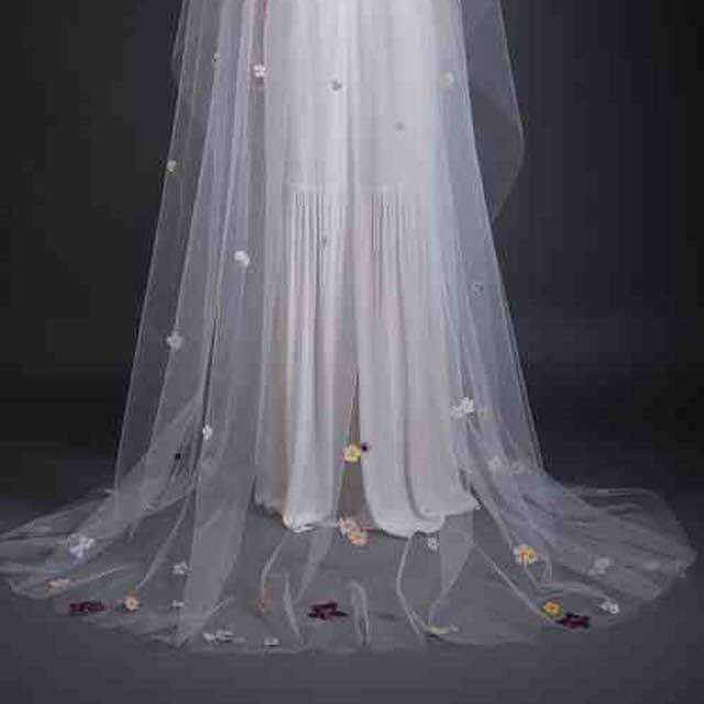 زفاف - Springtime Cathedral Length Veil - Long Veil - Wedding Veil - Custom Veil - Handmade Wedding Veil