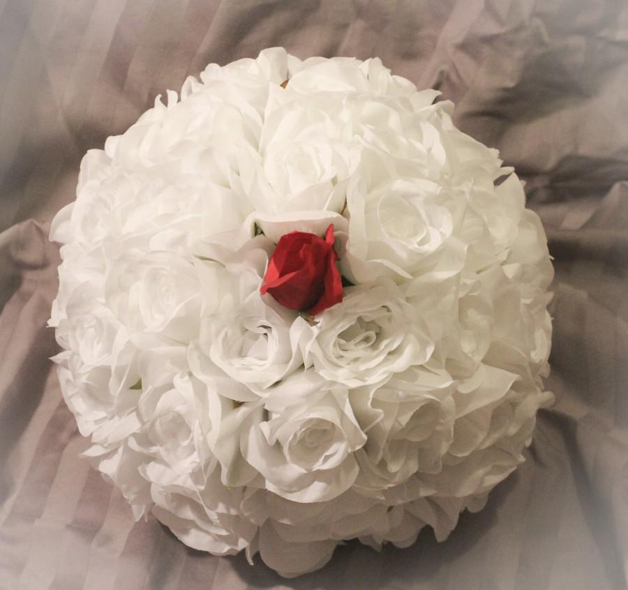 زفاف - Single Red Rose Elegant Bouquet