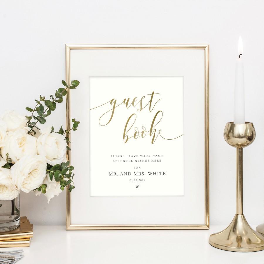 Свадьба - PERSONALISED PRINTED Wedding Sign