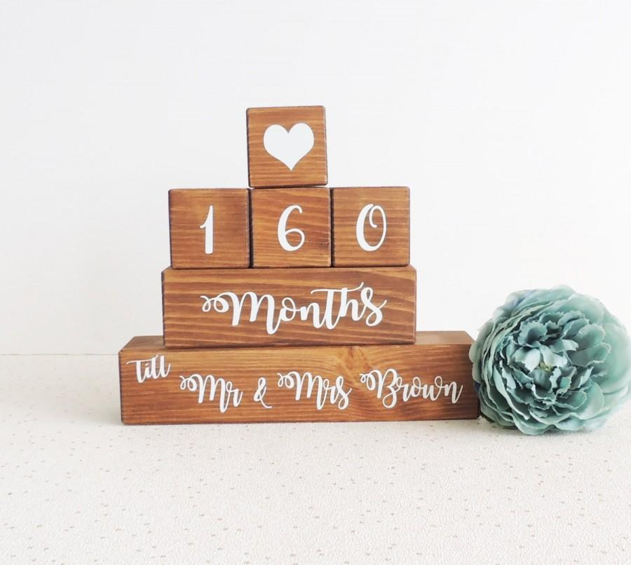 Свадьба - wedding countdown, personalised gift, wooden countdown, engagement gift, bride to be, days till wedding, daughter engagement, fiance gift