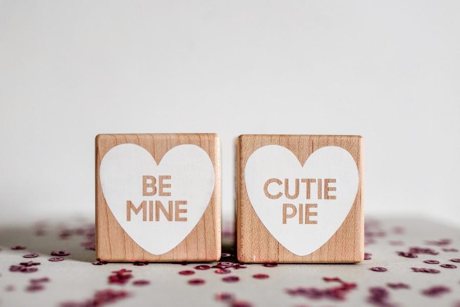Mariage - Big Wooden XO Heart Blocks • Modern decor • Engagement gift • Valentine's • Love blocks • Conversation hearts • Love Story • Photo prop
