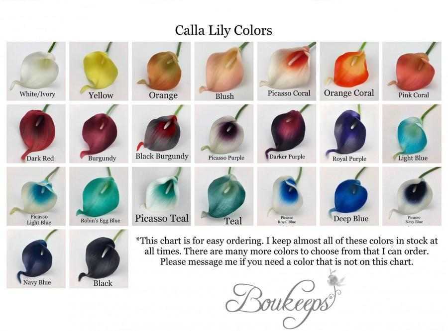 Свадьба - Calla Lily Sample, Real Touch Calla Lily Sample, Bouquet, Boutonniere, Corsage, White, Ivory, Coral, Pink, Red, Purple, Royal Blue, Teal