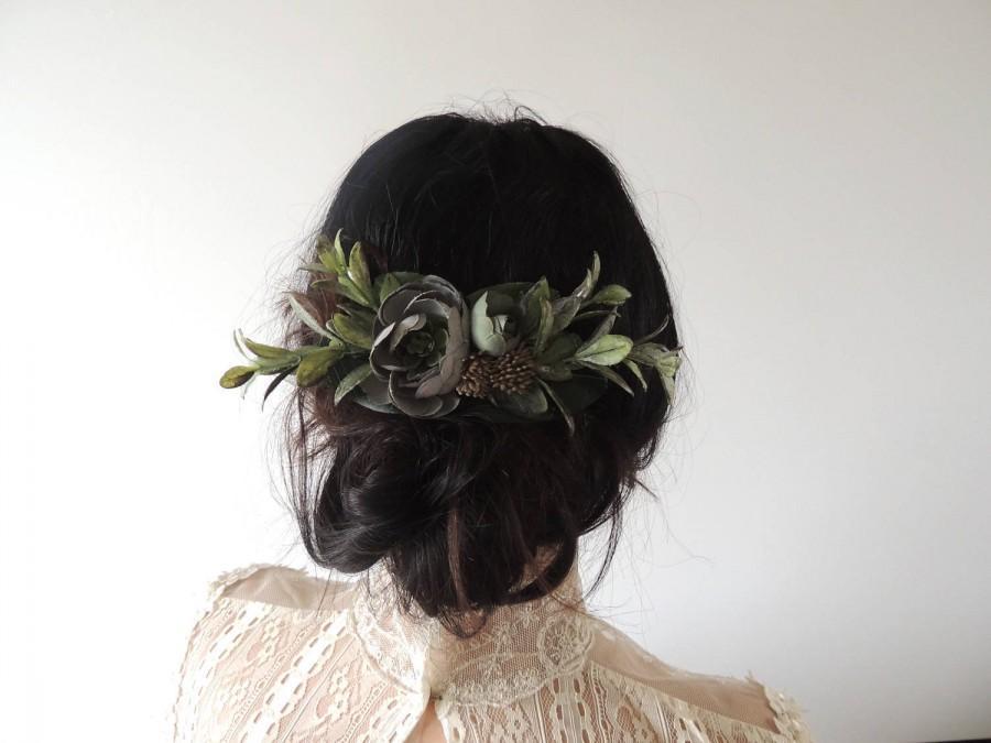 Свадьба - Wedding Flower Hair Clip, Bridal Hairpiece for Boho Wedding
