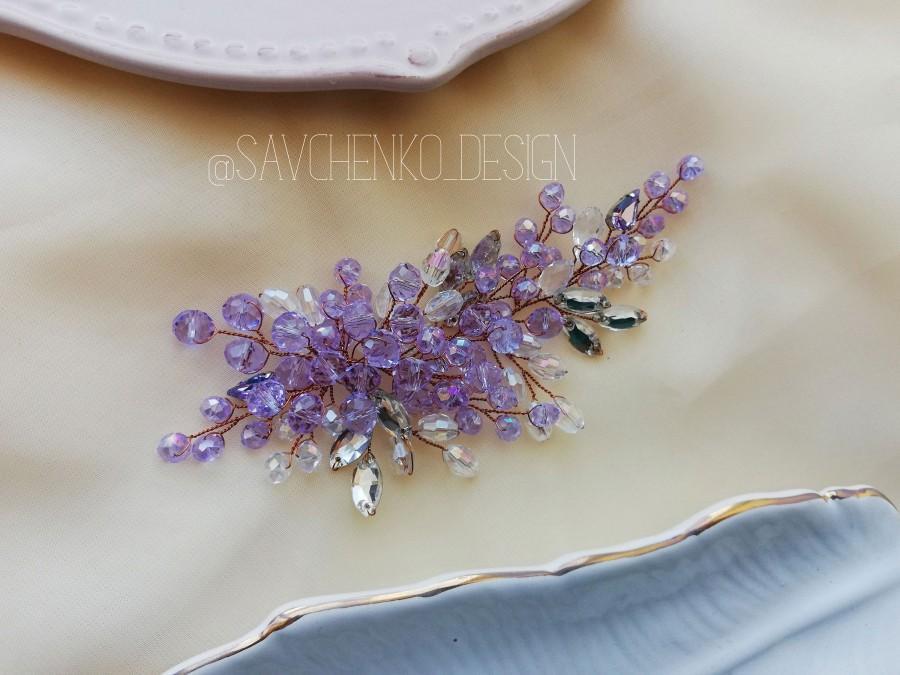 Wedding - Lavender Bridal Hair Comb