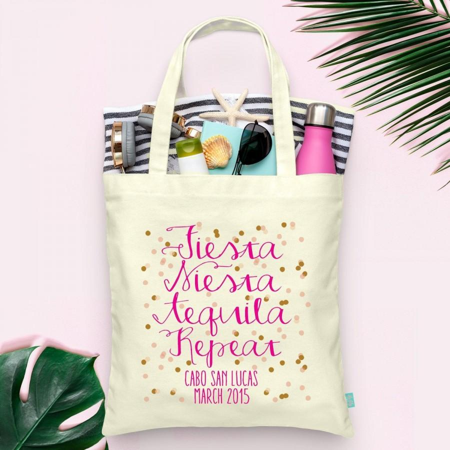 Mariage - Fiesta Siesta Tequila Bachelorette Tote - Wedding Welcome Tote Bag