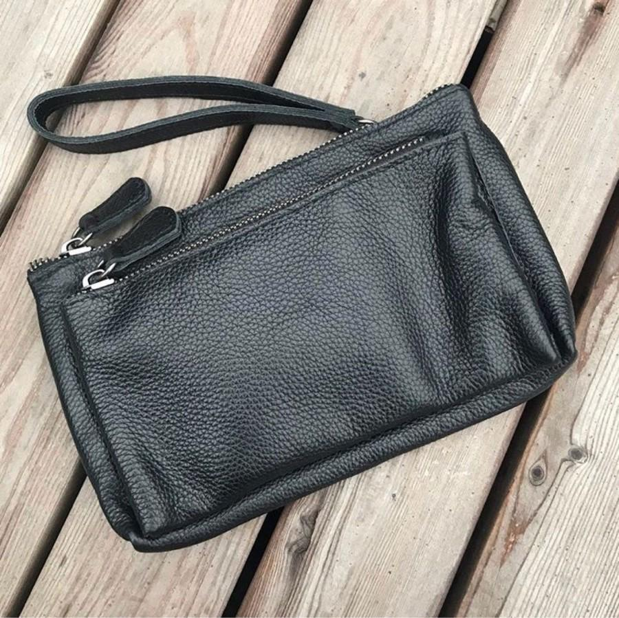 Mariage - Leather clutch bag purse, Clutch handbag, Travel wallet