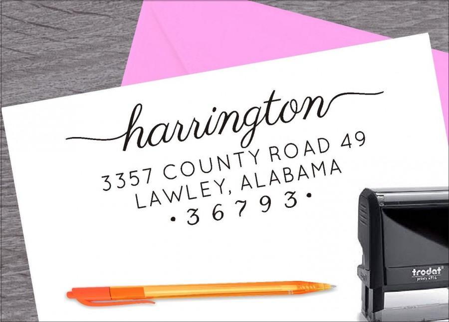 Wedding - Self Inking Address Stamp, Wedding Stamp, Address Stamp, Custom Address Stamp, Return Address Stamp, Housewarming Gift ArtS001