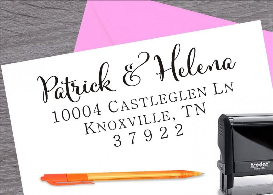 Wedding - Return Address Stamp, Self Inking Address Stamp, Wedding Stamp, Address Stamp, Custom Address Stamp, Housewarming Gift ArtS008