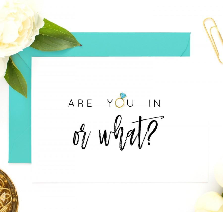 Wedding - Funny Bridesmaid Card, Bridesmaid Proposal Card, Funny Maid of Honor Card, Will You Be My Bridesmaid, Maid of Honor Card