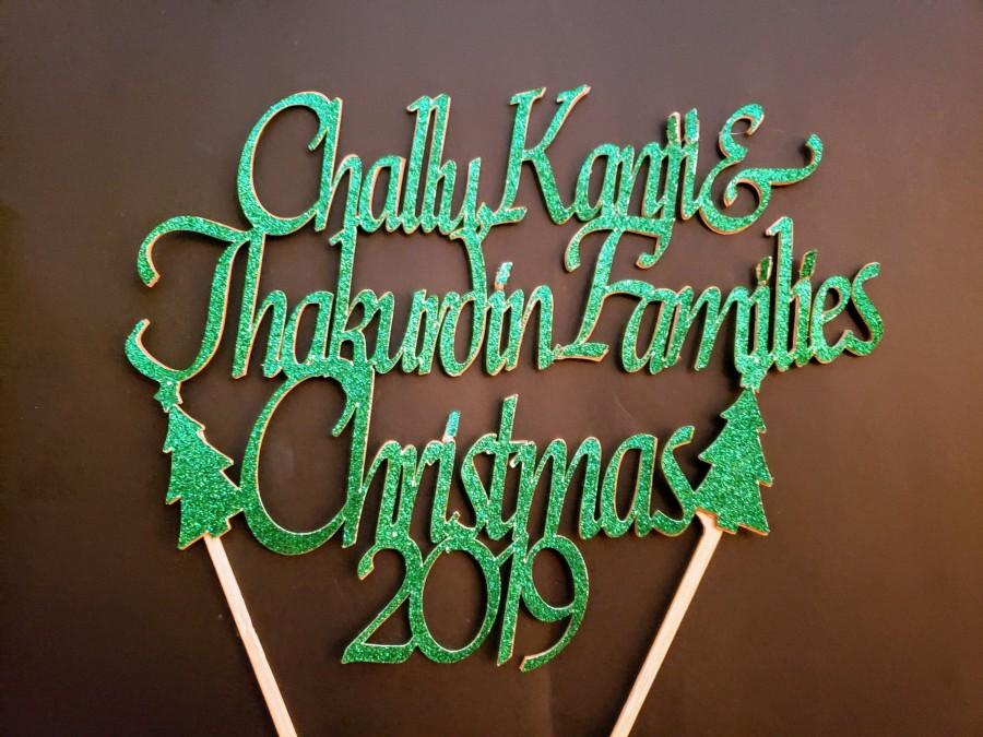 Свадьба - Custom / Personalized Family Christmas Cake topper