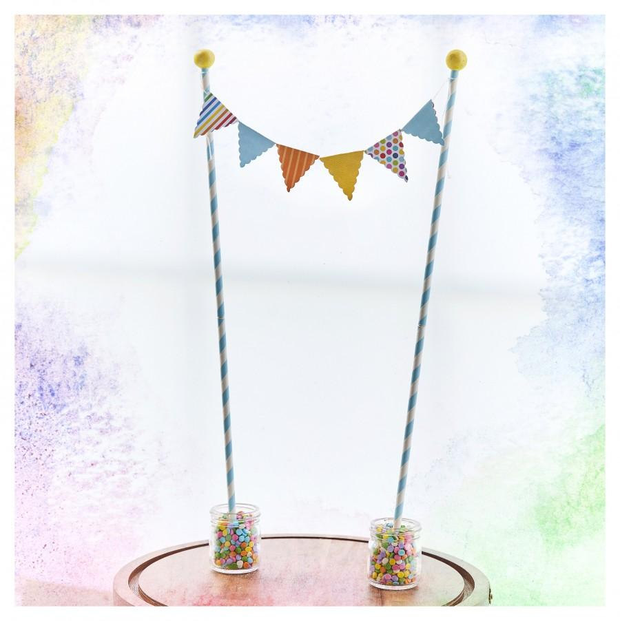 Wedding - Extra tall birthday cake banner/Bunting banner/Birthday flag banner
