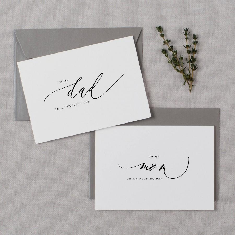 Wedding - Wedding Card To My Mom On My Wedding Day, To My Dad On My Wedding Day, To My Parents Wedding Card, To My Mom, Wedding Card, 2 Cards, K6