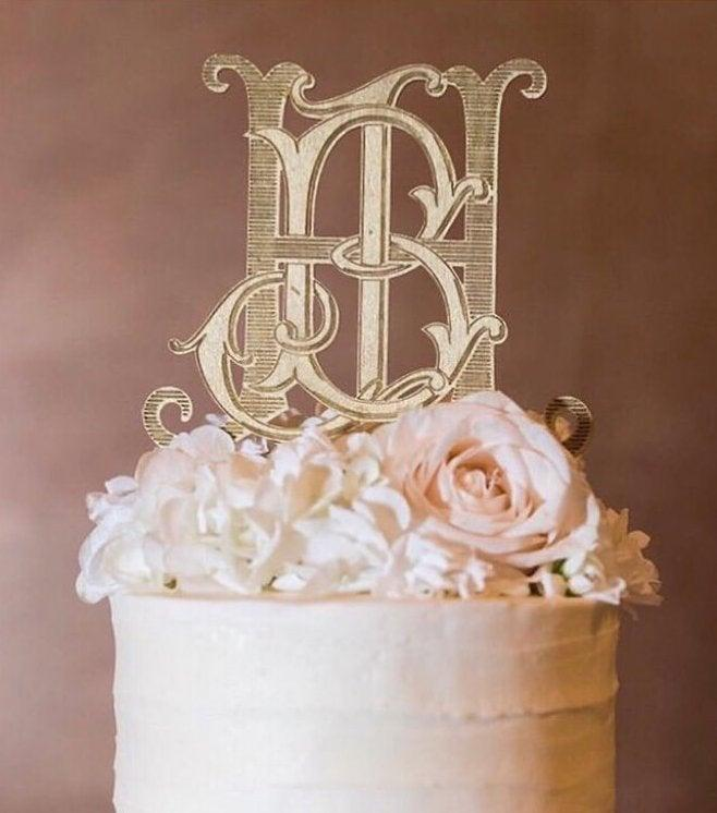 Свадьба - custom monogram cake topper / custom cake topper / custom wedding cake topper / wood acrylic Laser Cut Topper / custom acrylic cake topper