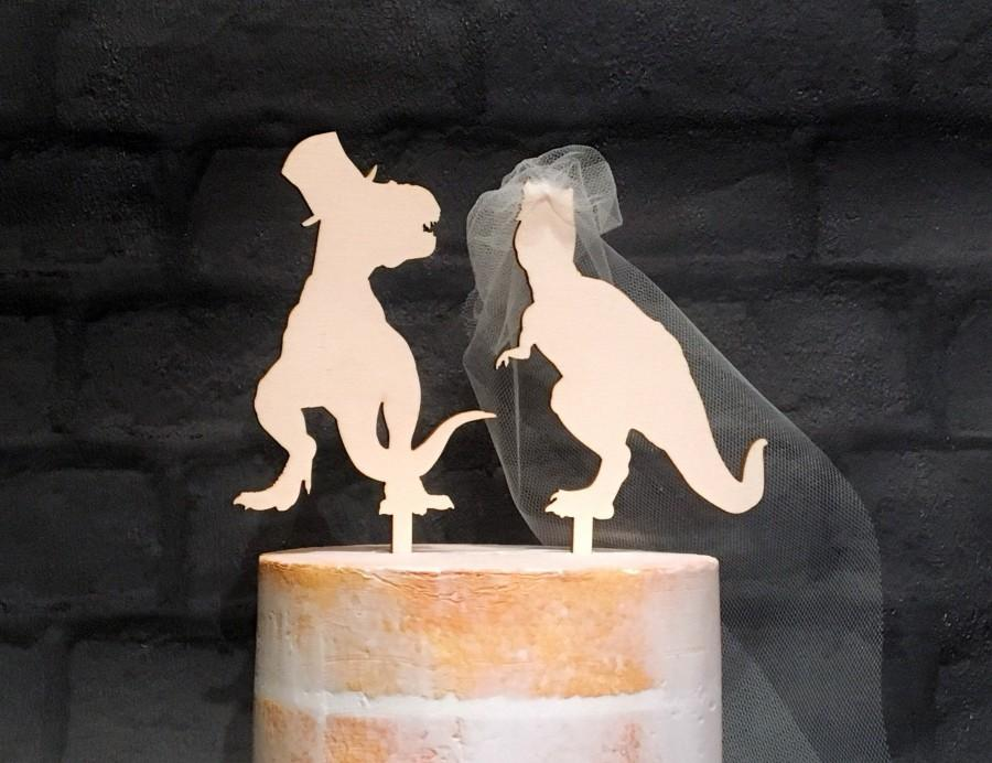Wedding - T-Rex Dinosaur Wedding Cake Topper