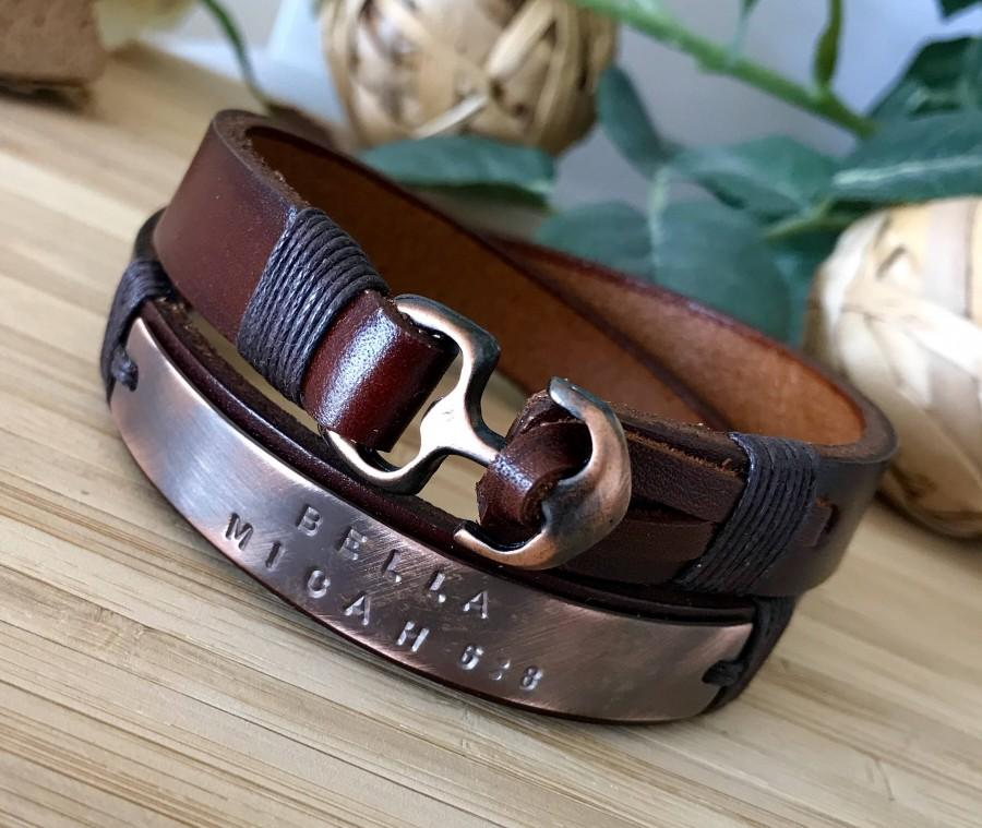 Wedding - FREE EXPRESS SHIPPING Leather bracelet,Mens Personalized Bracelet,Mens leather bracelet,Custom Coordinates,Custom wrap bracelet,Valentines d