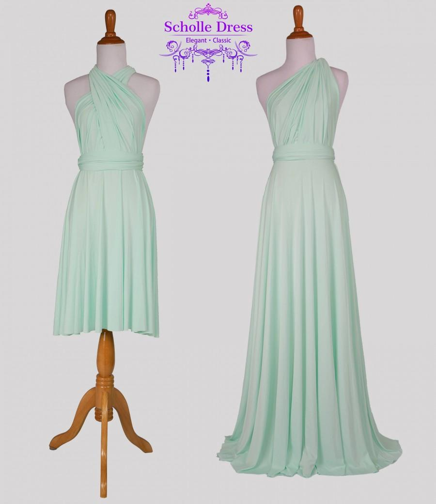 Wedding - Bridesmaid Dress Light Mint  dress, Infinity Dress, Wrap Convertible Dress.Party dress-C33#B33#