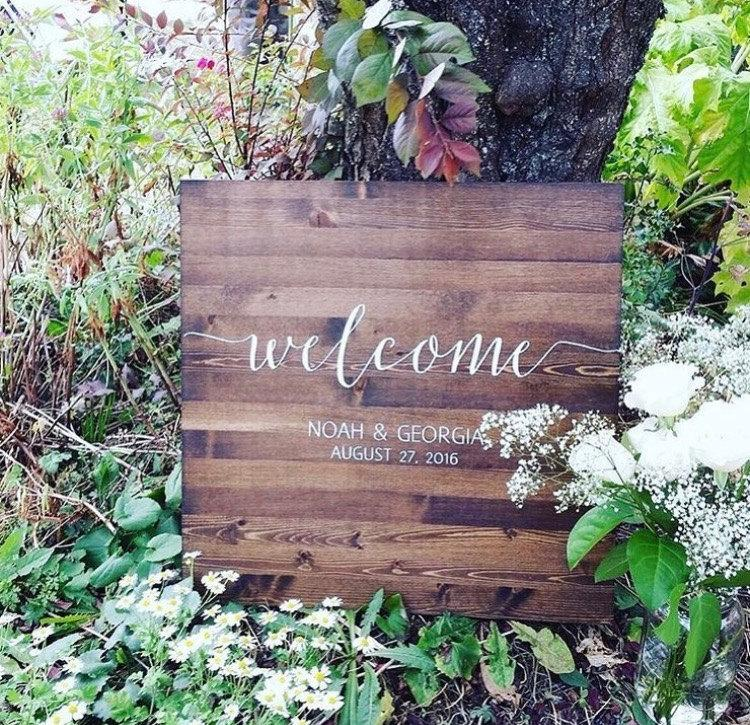 زفاف - Wedding Welcome Sign - Rustic Wood Wedding Sign - Sophia Collection
