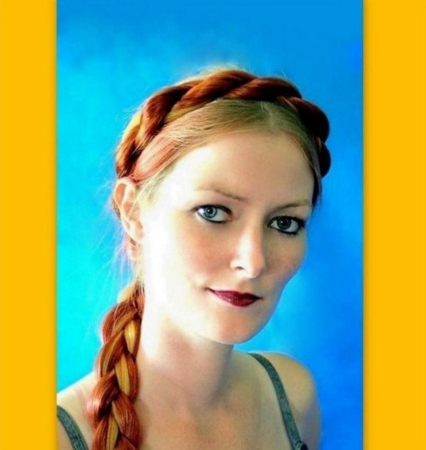 Mariage - Medieval Renaissance costume hair twist braided headband SCA wedding Cinderella hairpiece hair band ren fair reenactment Viking Norse custom
