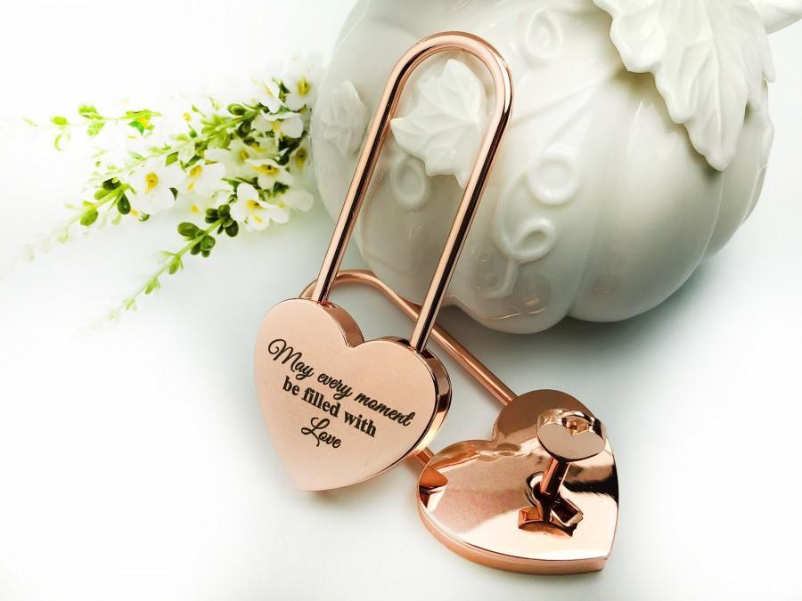 Свадьба - Valentine's Day Gift, Personalized Love Lock,Heart Shaped Love Lock,Custom Engraved Love Lock,Padlock,Engraved Love Lock,Wedding Anniversary