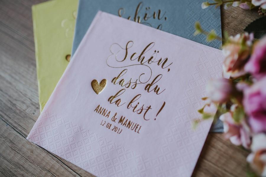 Свадьба - Lunch Personalisierte Servietten, Hochzeit, Personalized Napkins, Custom Napkins, Schön, dass du da bist, Custom Luncheon Napkins