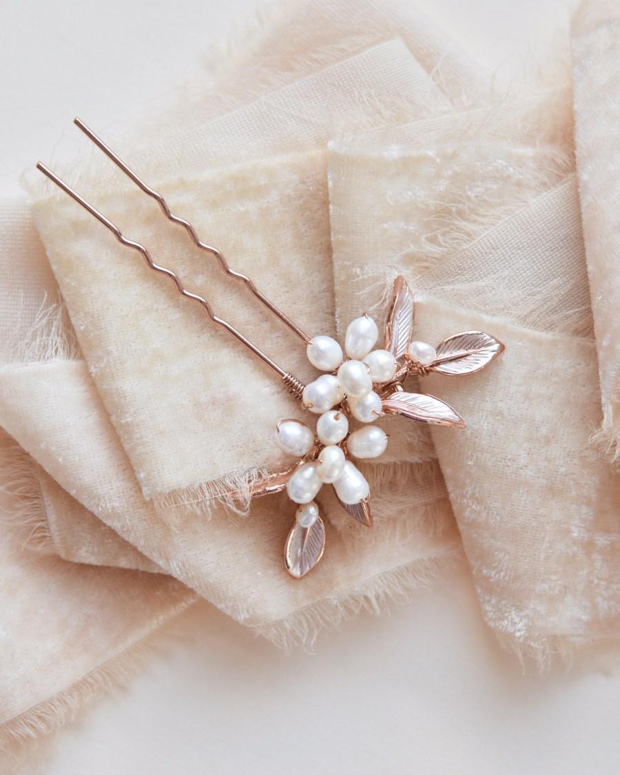 زفاف - Bridal Hair Pin, Silver Wedding Hair Pin, Gold Bridal Hair Pin, Rose Gold Wedding Hair Pin, Bridal Hair Accessory, Wedding Hair Pin ~TP-2838