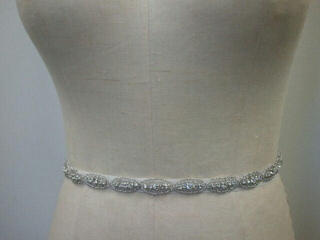 Wedding - Bridal Belt, Wedding belt, Bridesmaid Belt, Party Belt, - Crystal Rhinestone Belt - Style B1021