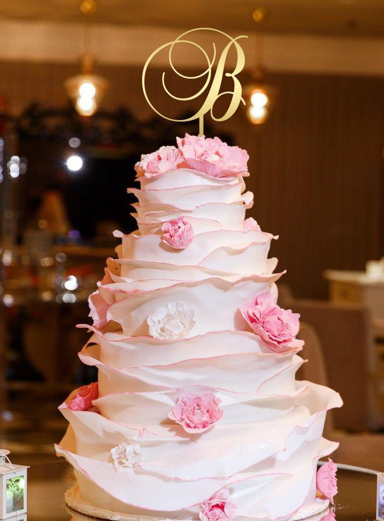 Mariage - Letter B  Wedding Cake Topper  Letter B Cake Topper Initials Cake Topper Single Letter Cake Topper B Personalised cake topper wooden