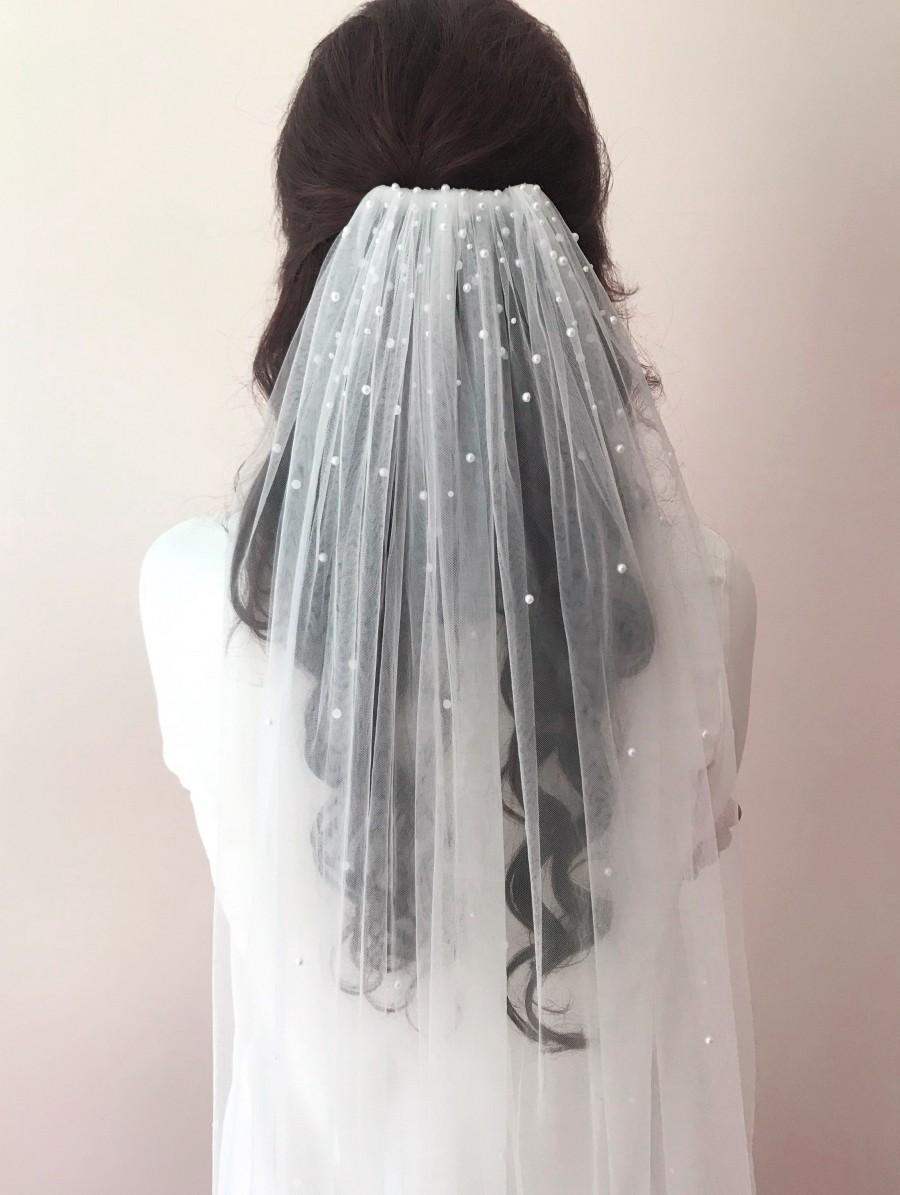 زفاف - Anna Veil with Pearl detail