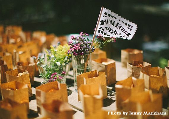 Mariage - Mexican Papel Picado Flags CLASSIC Banderas - personalized in your names and colors