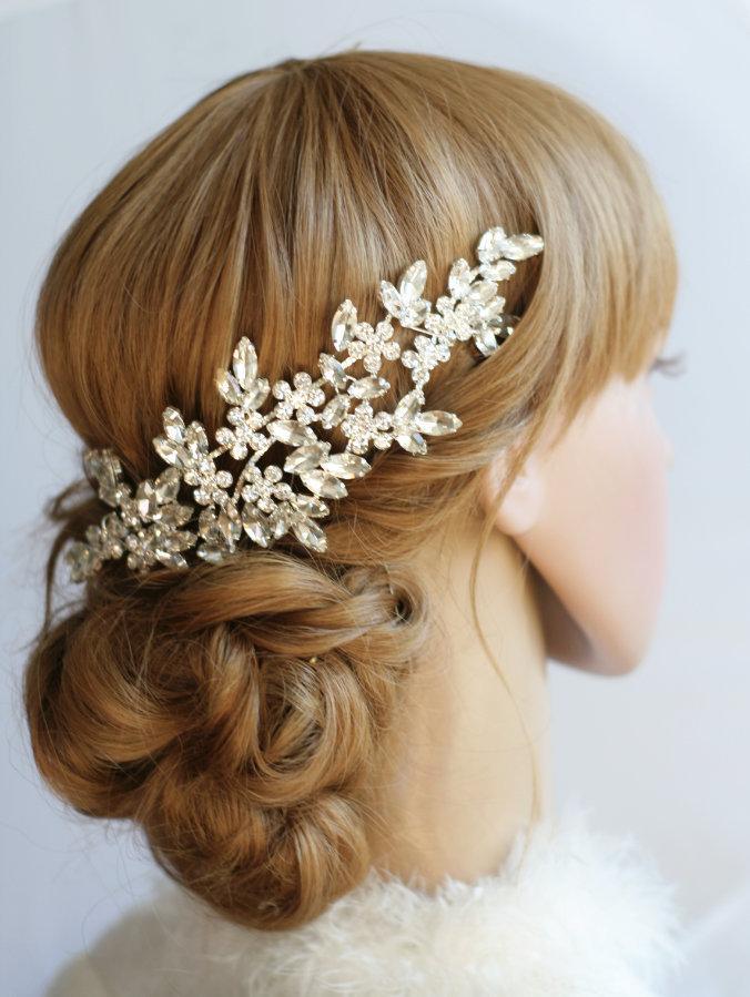 Свадьба - Crystal hair piece Wedding headpiece Crystal Wedding hair accessories Bridal hair comb Rhinestone headpiece