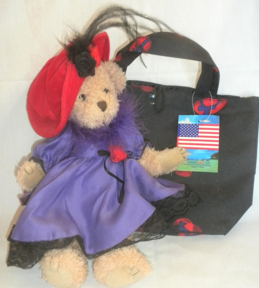 Wedding - Easter, Red Hat Society, Bear, Purse, Gift for Little Girl, Gift for Red Hat Society member, Mothers Day, Birthday, Anniversary