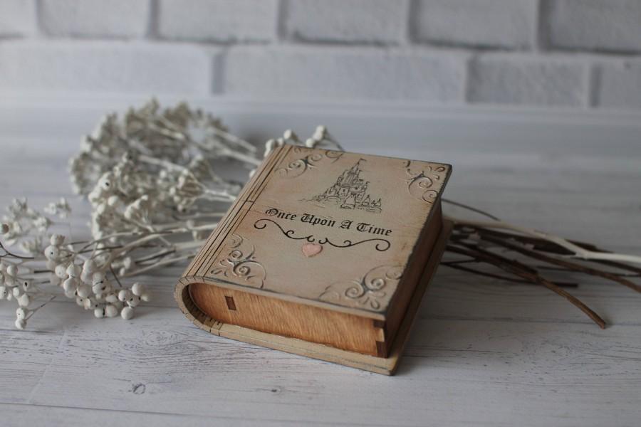 زفاف - Wedding ring box Ring bearer box Ring pillow wedding Book ring box Engagement ring box White wooden ring box Classic wedding  Jewelry box
