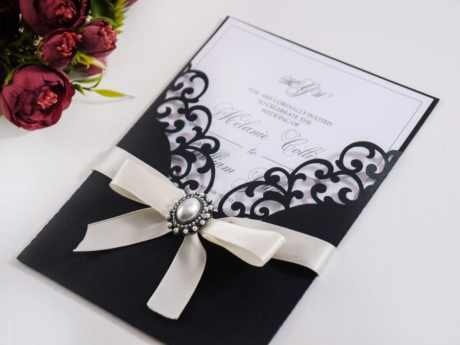 Wedding - 5x7 Laser cut Pocket Wedding Invitation Envelope, SVG, ai, cdr, eps, pdf Template, Silhouette Cameo, Cricut digital cutting file