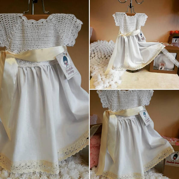 Wedding - Natural kids clothing, Birthday dress, Blessing dress, Linen dress, Handmade, Flower girls dress, Baptism dress, Girl Take Home Outfit